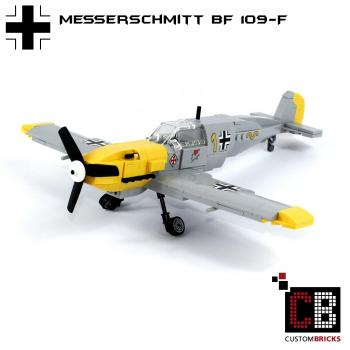 CUSTOM WW2 Warplane - Messerschmitt BF 109-F out of LEGO ® bricks