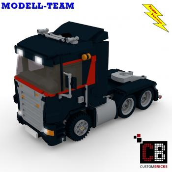 Custom Modell Team Truck - black