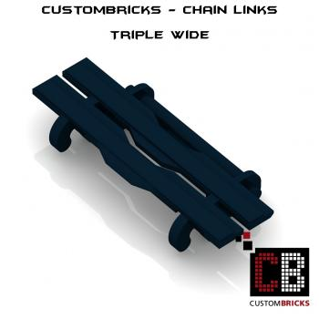 CustomBricks Chain Links - 100x Triple Wide