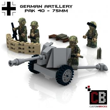 Custom WW2 German Pak 40 - 75mm Artillery