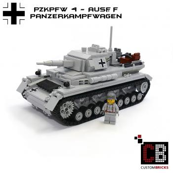 CUSTOM WW2 PzKpfw IV Ausf.F with soldier out of LEGO® bricks