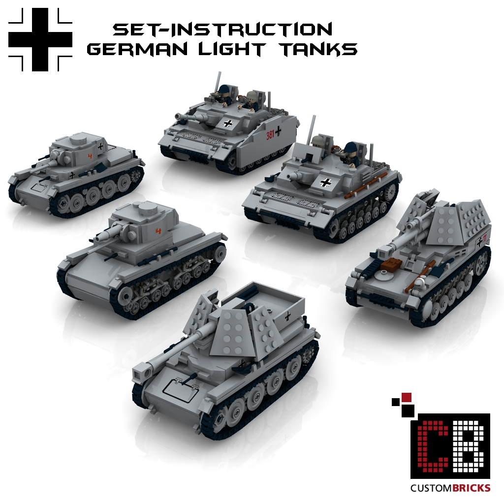 custom ww2 deutsches panzer set 2 t35 t38 marder wespe stug 3a und 3b wwii. Black Bedroom Furniture Sets. Home Design Ideas