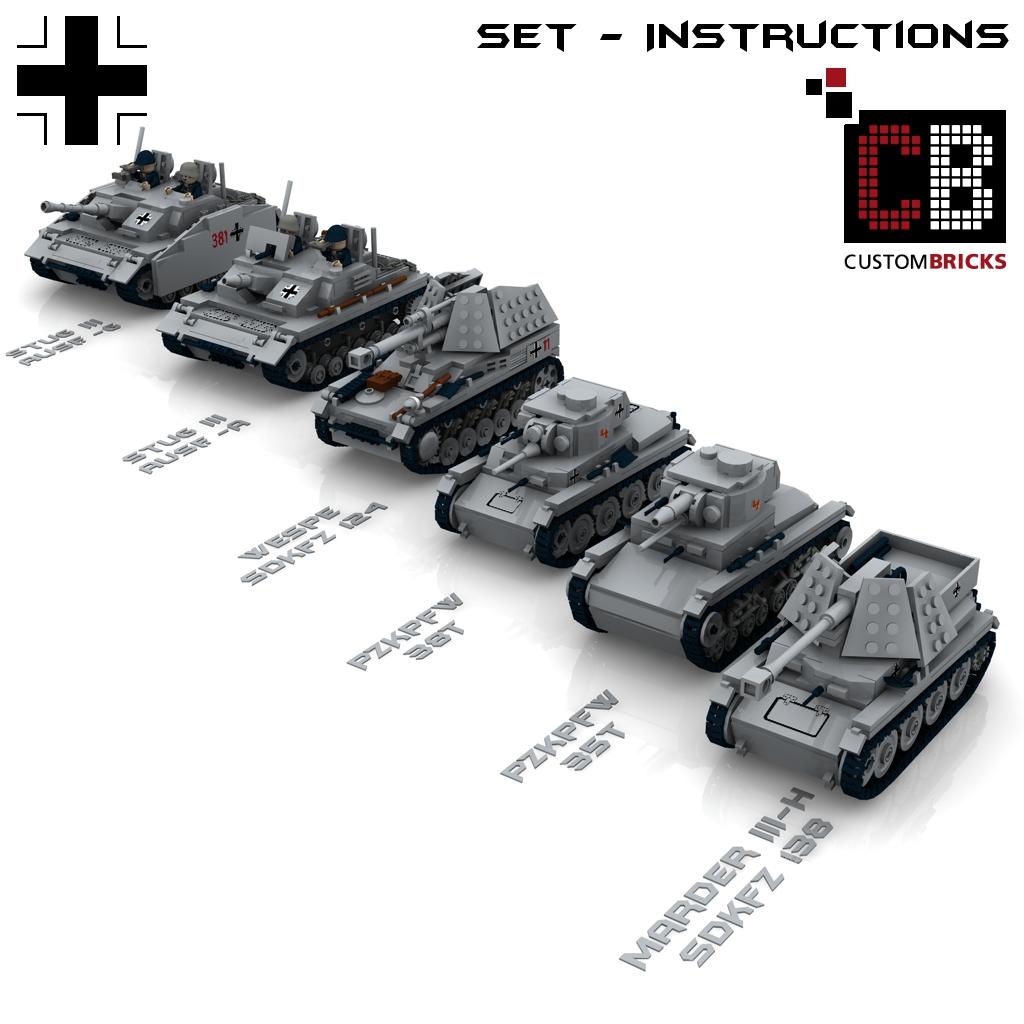 CUSTOM PDF Instructions WW2 WWII Panzer 35t for LEGO® Bricks