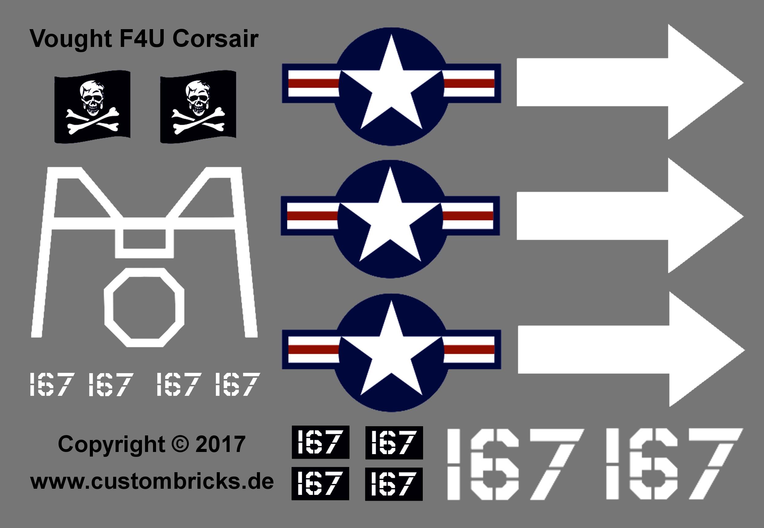 Custombricks de custom sticker decals flugzeug airplane warplane custombricks