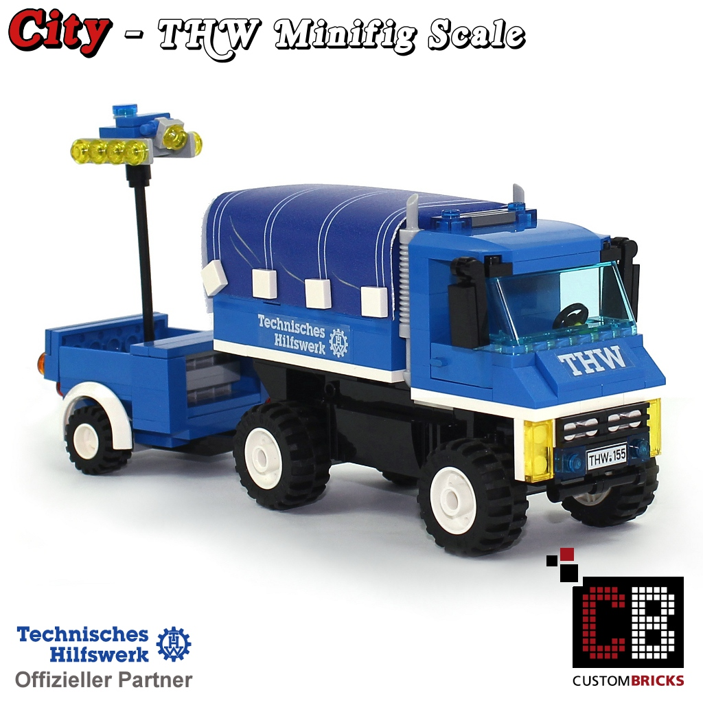 Custombricksde Custom Moc Thw Unimog With Lighttrailer Out Of