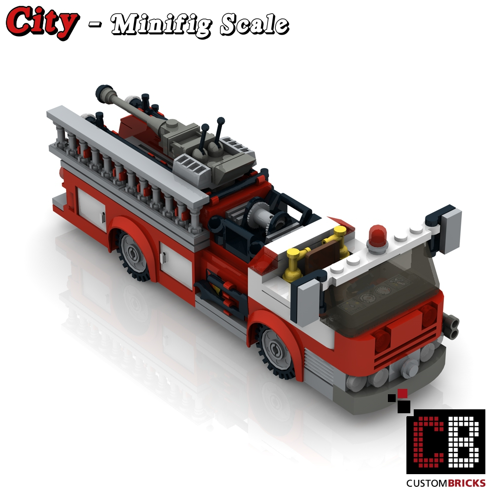 lego custom moc city modell us feuerwehr truck. Black Bedroom Furniture Sets. Home Design Ideas