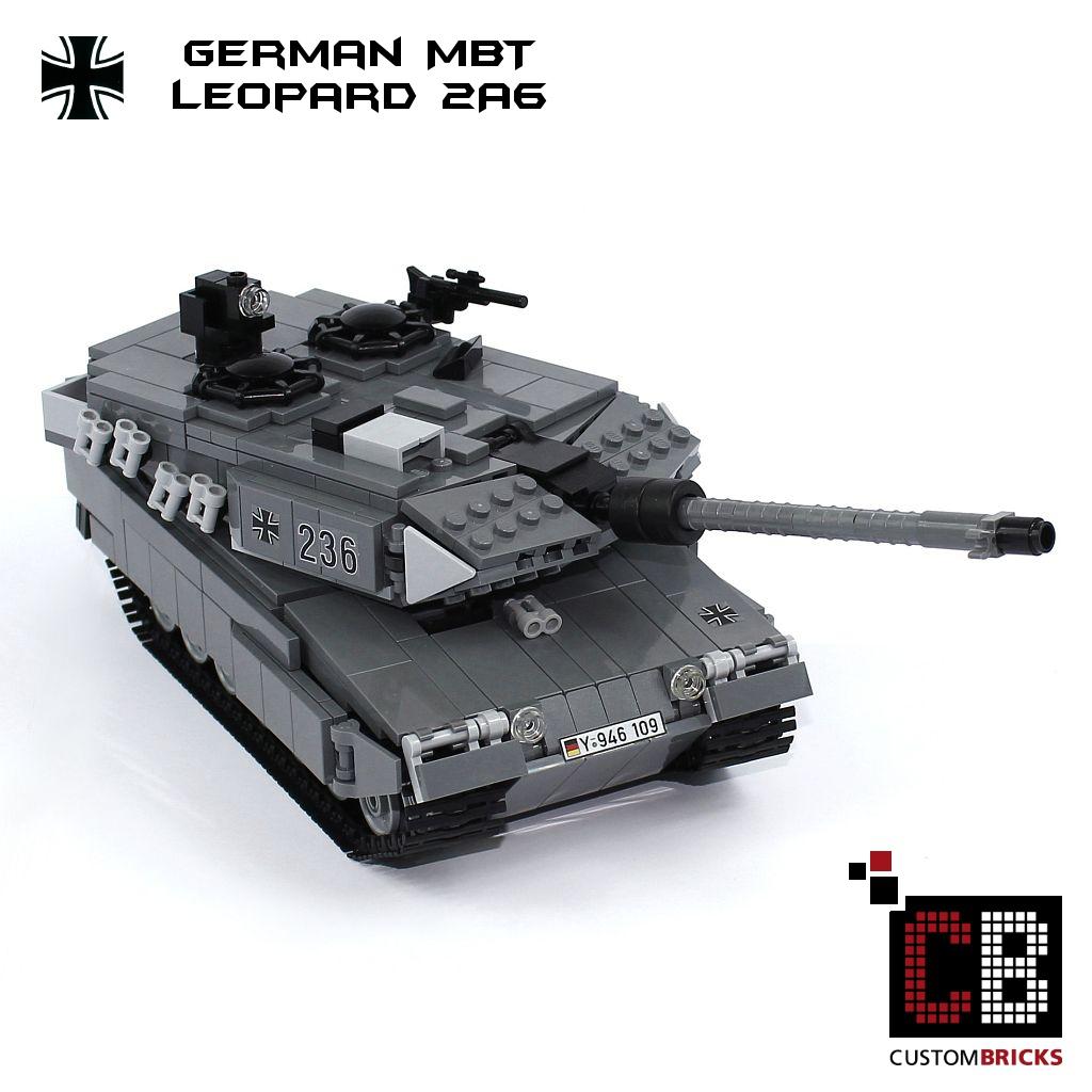 CB CUSTOM Bundeswehr MBT Leopard 2A6 Panzer MOC aus LEGO® Steinen camo