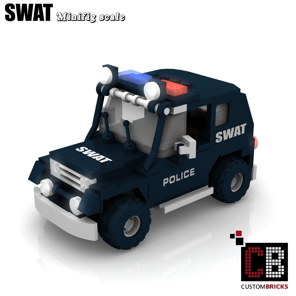 Custombricks Lego Custom Moc City Swat Police Gign Raid Gru