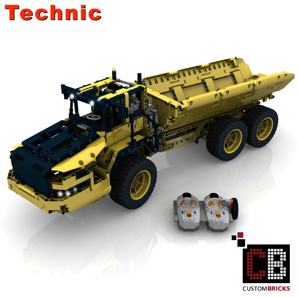 Custombricks Lego Technic Model Rc Dump Truck Custombricks Moc