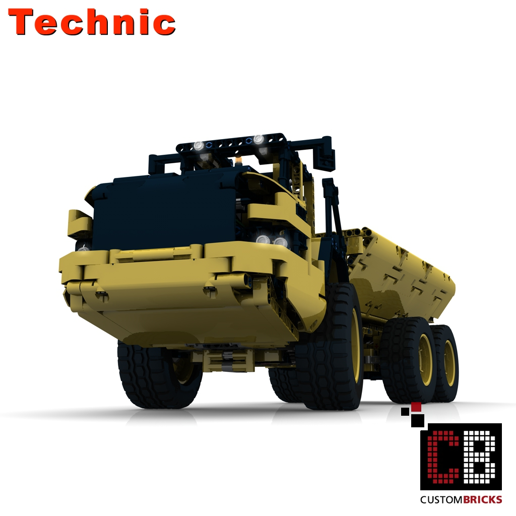 Custombricks Lego Technic Model Rc Dump Truck Custombricks Moc