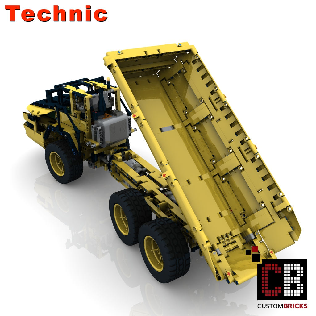 lego technic model rc dump truck. Black Bedroom Furniture Sets. Home Design Ideas