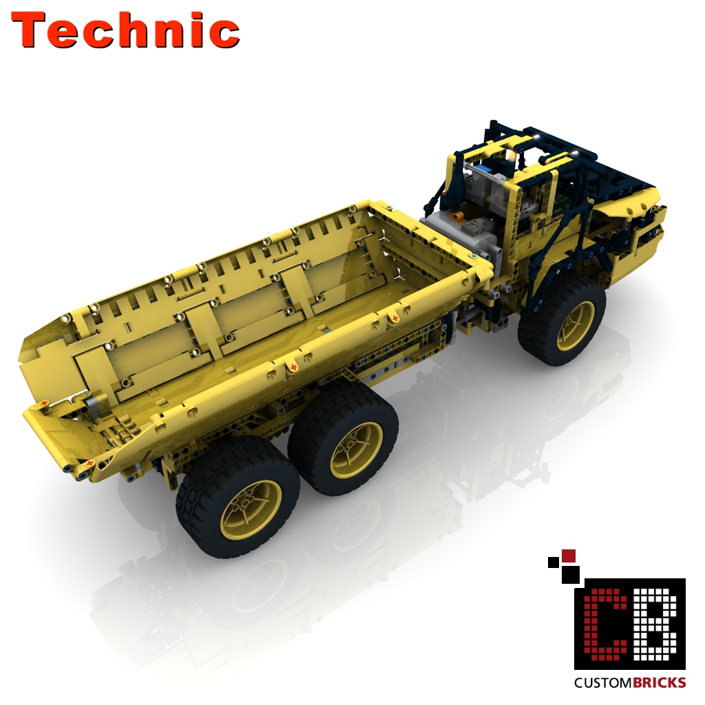Custombricks De Lego Technic Model Rc Dump Truck Custombricks Moc Instruction