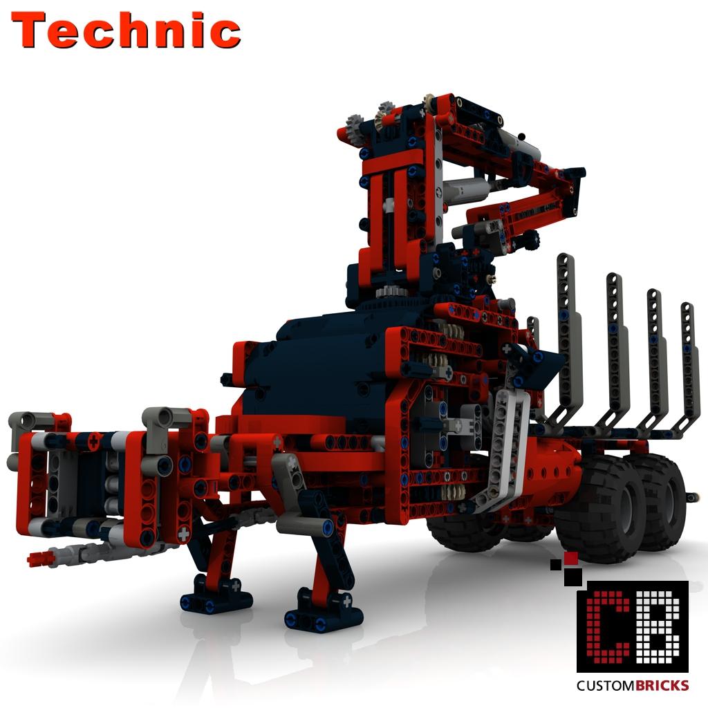 lego technik modell custom claas 2 achs. Black Bedroom Furniture Sets. Home Design Ideas