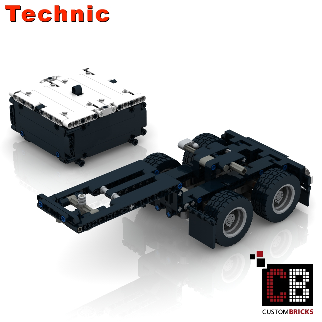 BRAND NEW LEGO TECHNIC 42078 MACK ANTHEM TRUCK CUSTOM BUILT DOLLY TRAILER ONLY