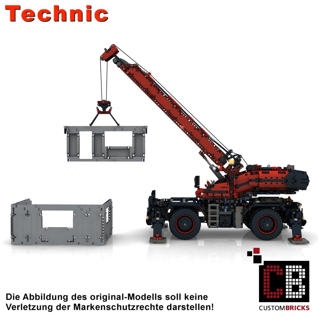Custombricksde Lego Technic Model Custom Rough Terrain Crane Full