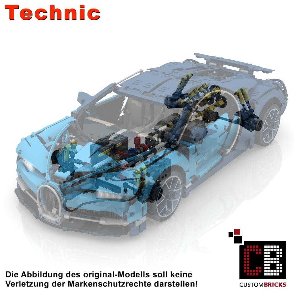Custombricksde Lego Technic Model Custom Bugatti Rc Modification