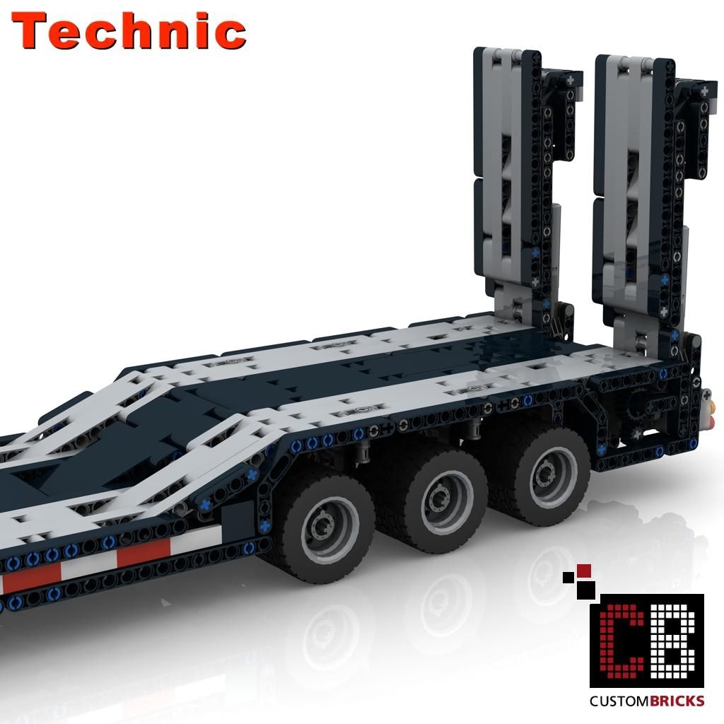 CUSTOMBRICKS de - LEGO Technik Modell Custom RC Tieflader