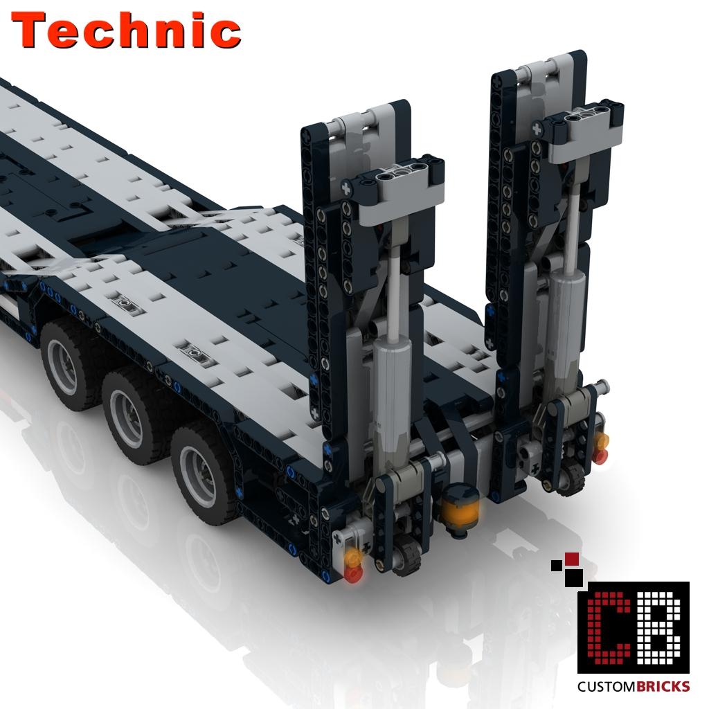 lego technik modell custom rc tieflader. Black Bedroom Furniture Sets. Home Design Ideas
