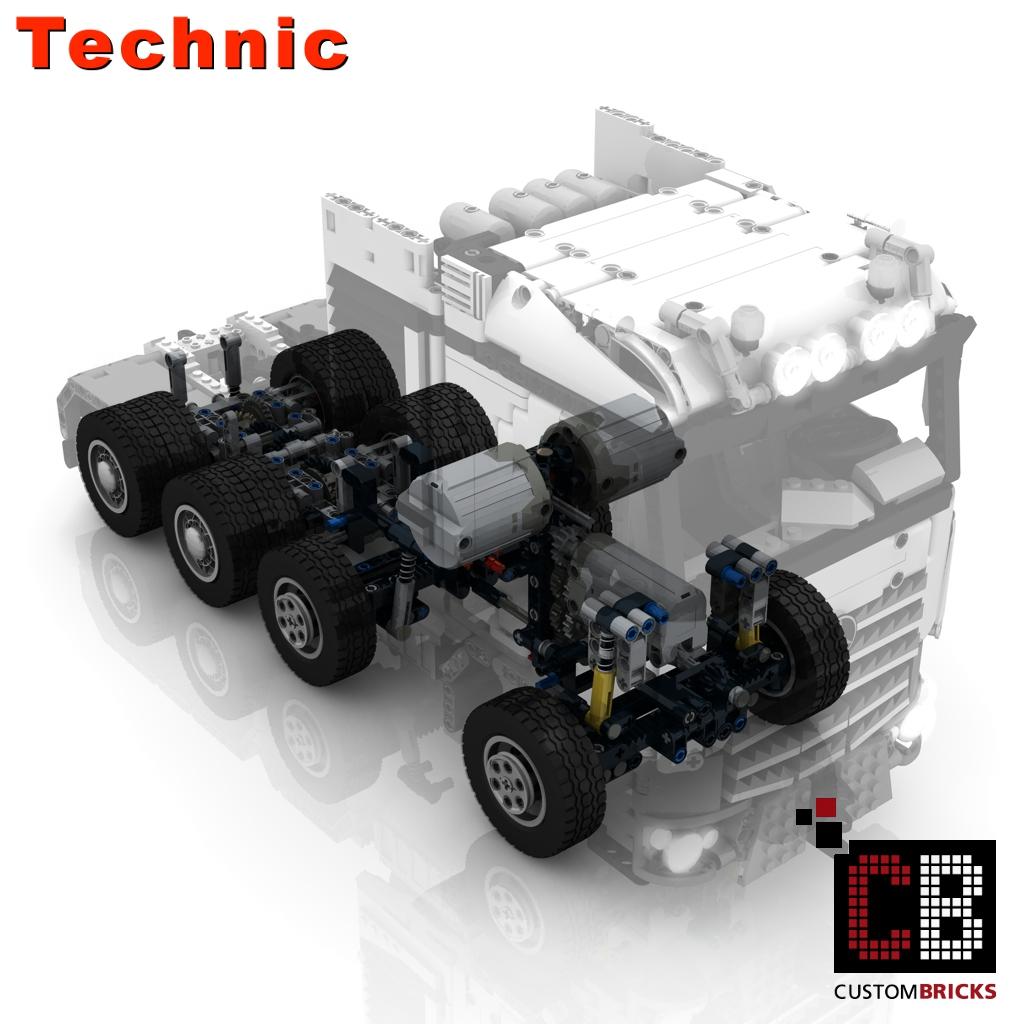 Custombricks De Lego Technic Model Arocs Slt Rc Truck Custombricks Moc Instruction
