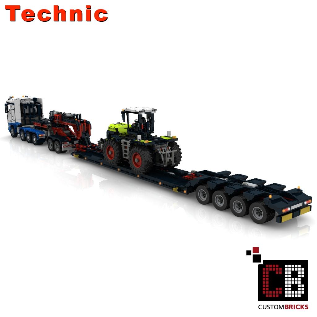 CUSTOMBRICKS de - LEGO Technik Modell Custom Arocs SLT - RC