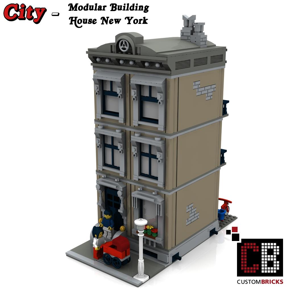 custombricks.de - lego city creator expert haus house gebäude