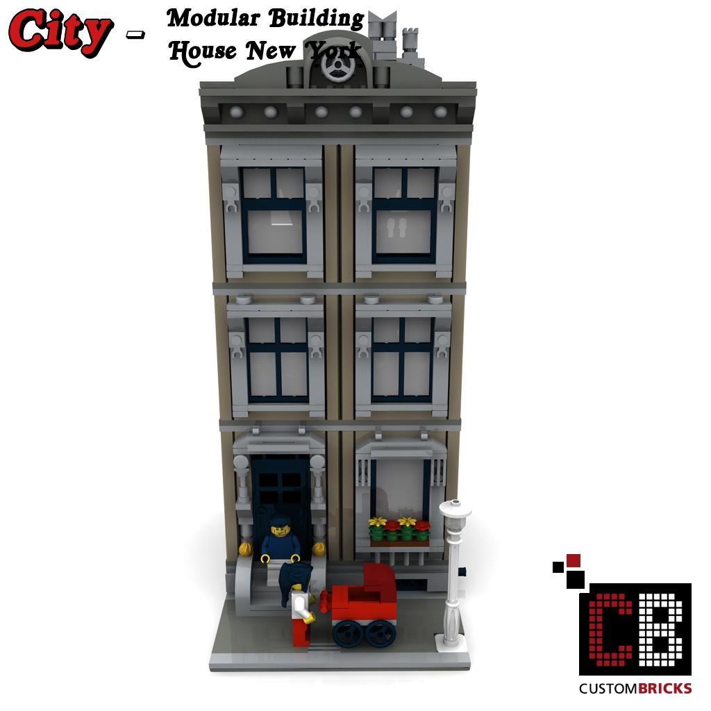 CUSTOMBRICKS LEGO City Creator Expert Haus House