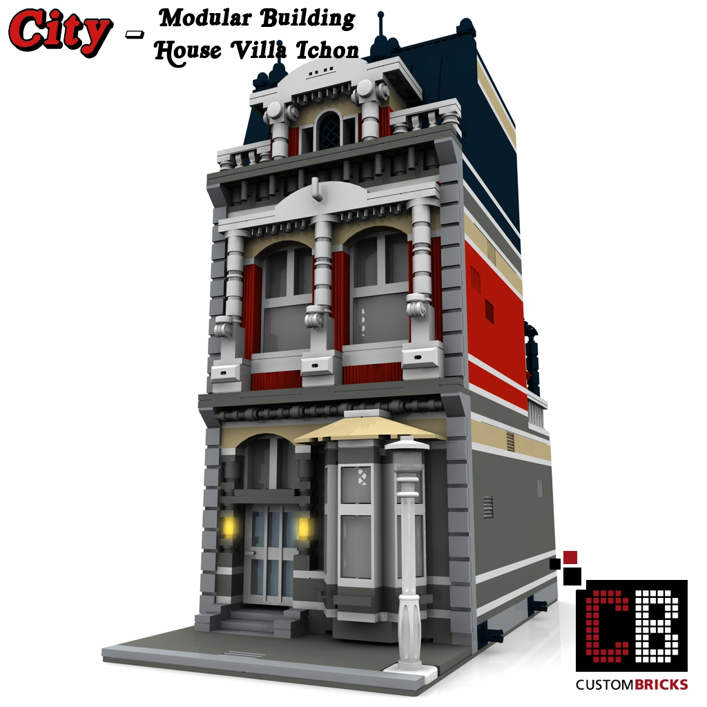 Lego city creator expert haus house for Modernes lego haus