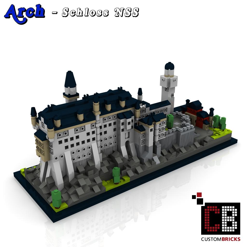 Custombricks De Lego Arch Architecture Serie Schloss Neuschwanstein Bauanleitung Instruction Custombricks