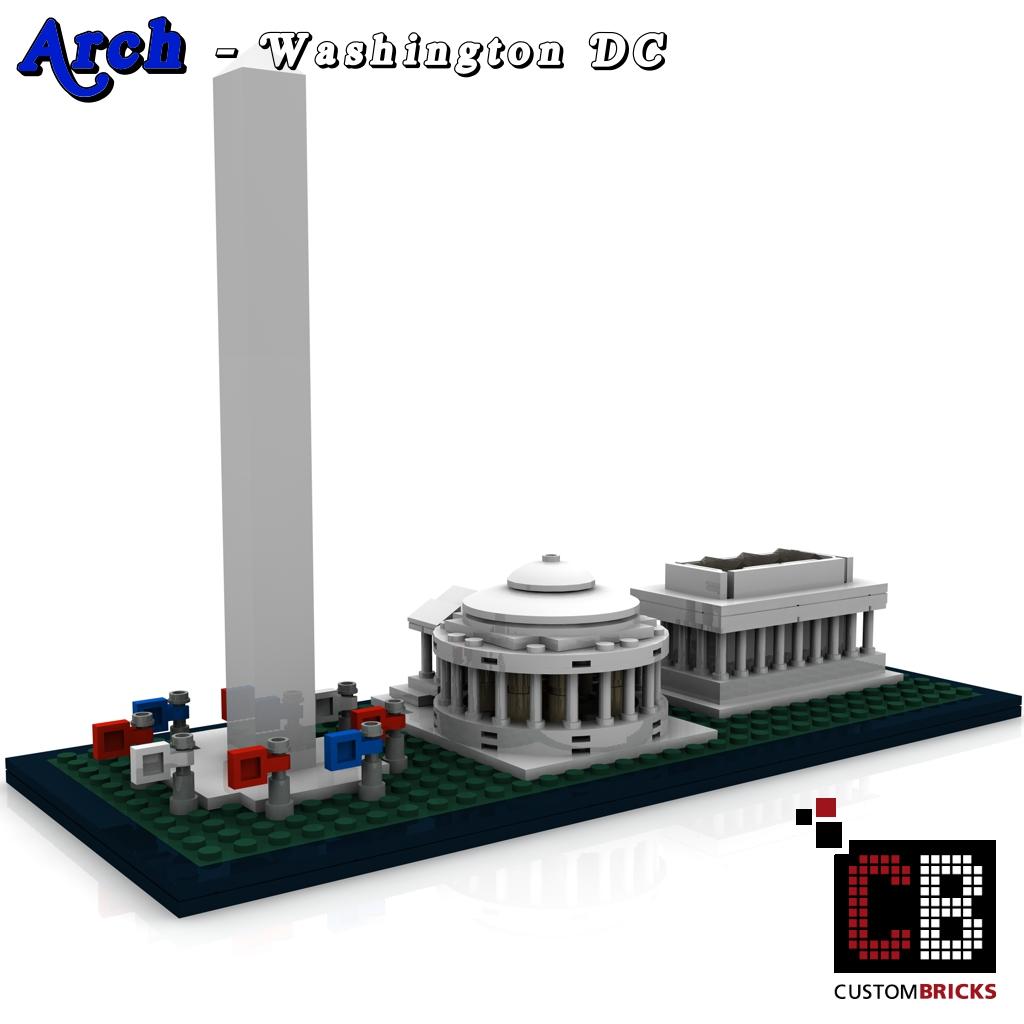 Custombricksde Lego Arch Architecture Serie Washington Dc