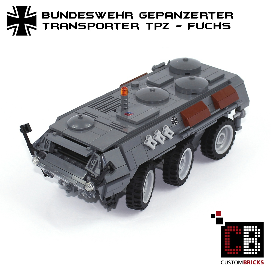 f81bed52d690 CUSTOMBRICKS.de - CUSTOM Bundeswehr TPz Fuchs made of LEGO® bricks