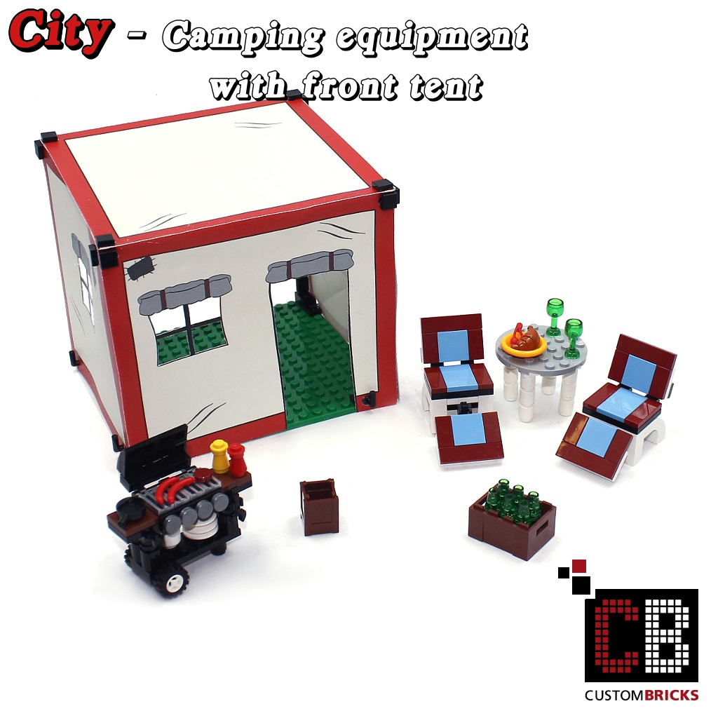 Custombricks Lego Custom Modell Moc Grill Zelt Tent Aus Lego