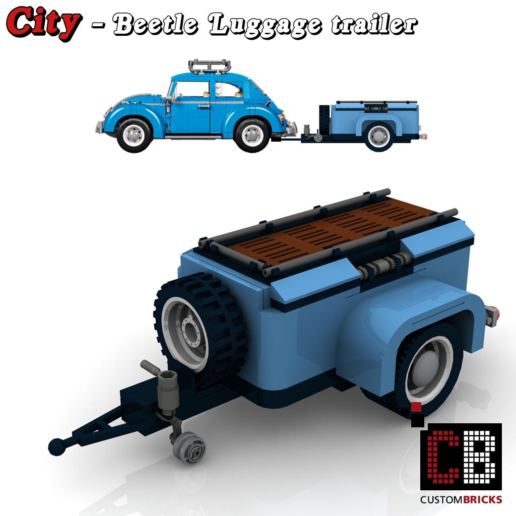 Custombricks De Lego City Anhanger Fahrzeug Trailer Gepackanhanger