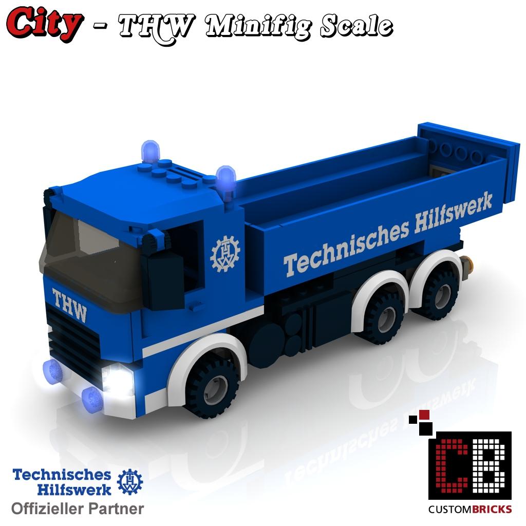 Custombricksde Lego Custom Moc City Thw Model Bauanleitung
