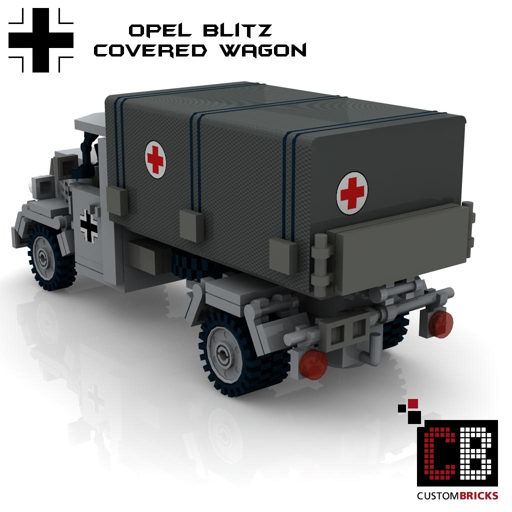 CUSTOM PDF Instructions WW2 WWII OPEL BLITZ RED CROSS for LEGO® Bricks
