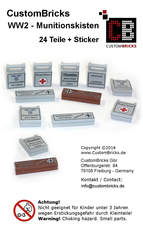 Custombricksde Custombricks Wwii Ammunition Boxes From Lego Parts