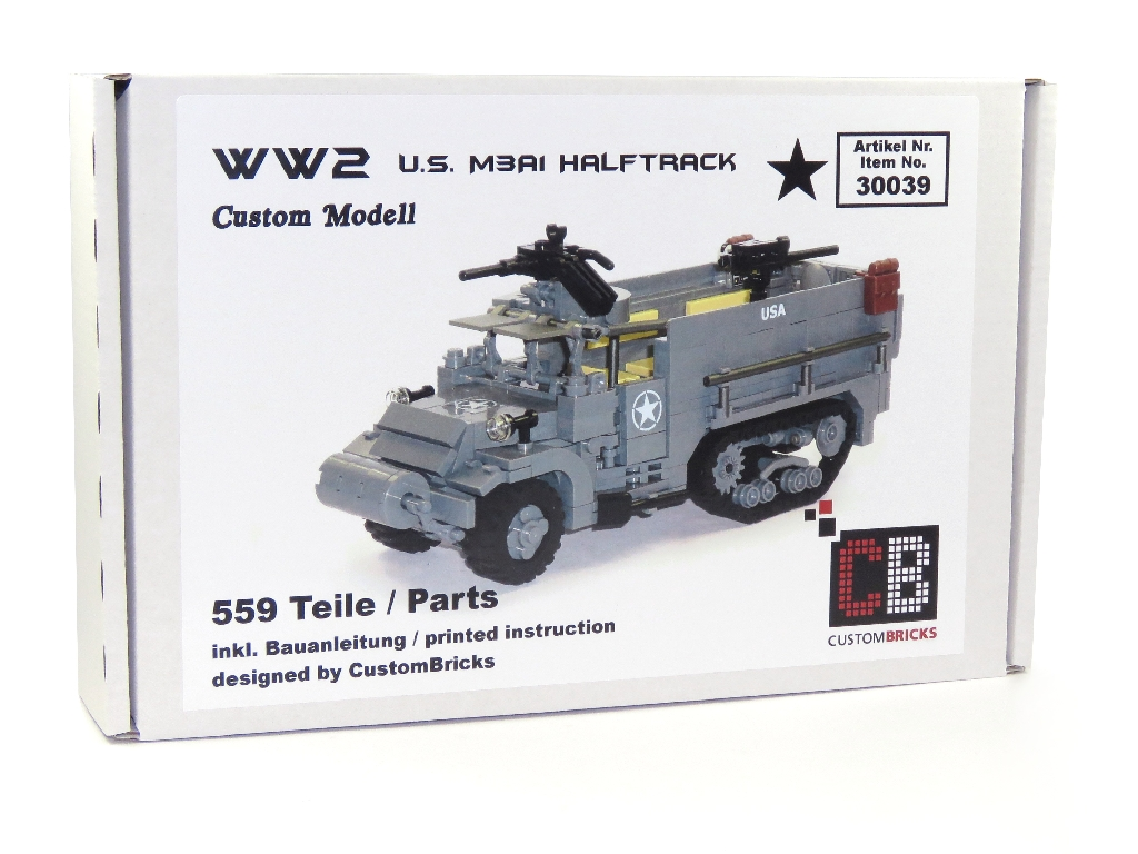 CUSTOMBRICKS de - LEGO WW2 WWII US Army USA M3A1 Halftrack