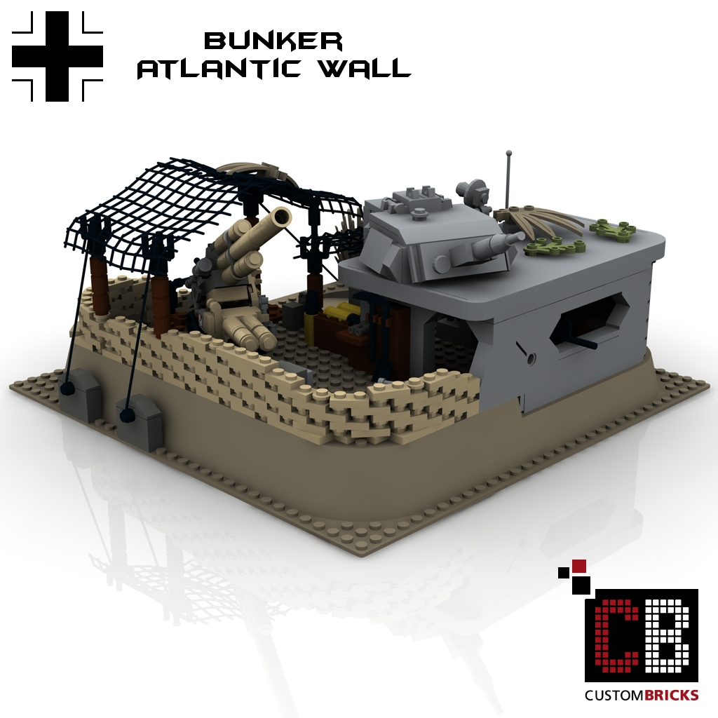 lego bunker afrika afrikakorps custom ww2 deutsche artillerie artillery set. Black Bedroom Furniture Sets. Home Design Ideas