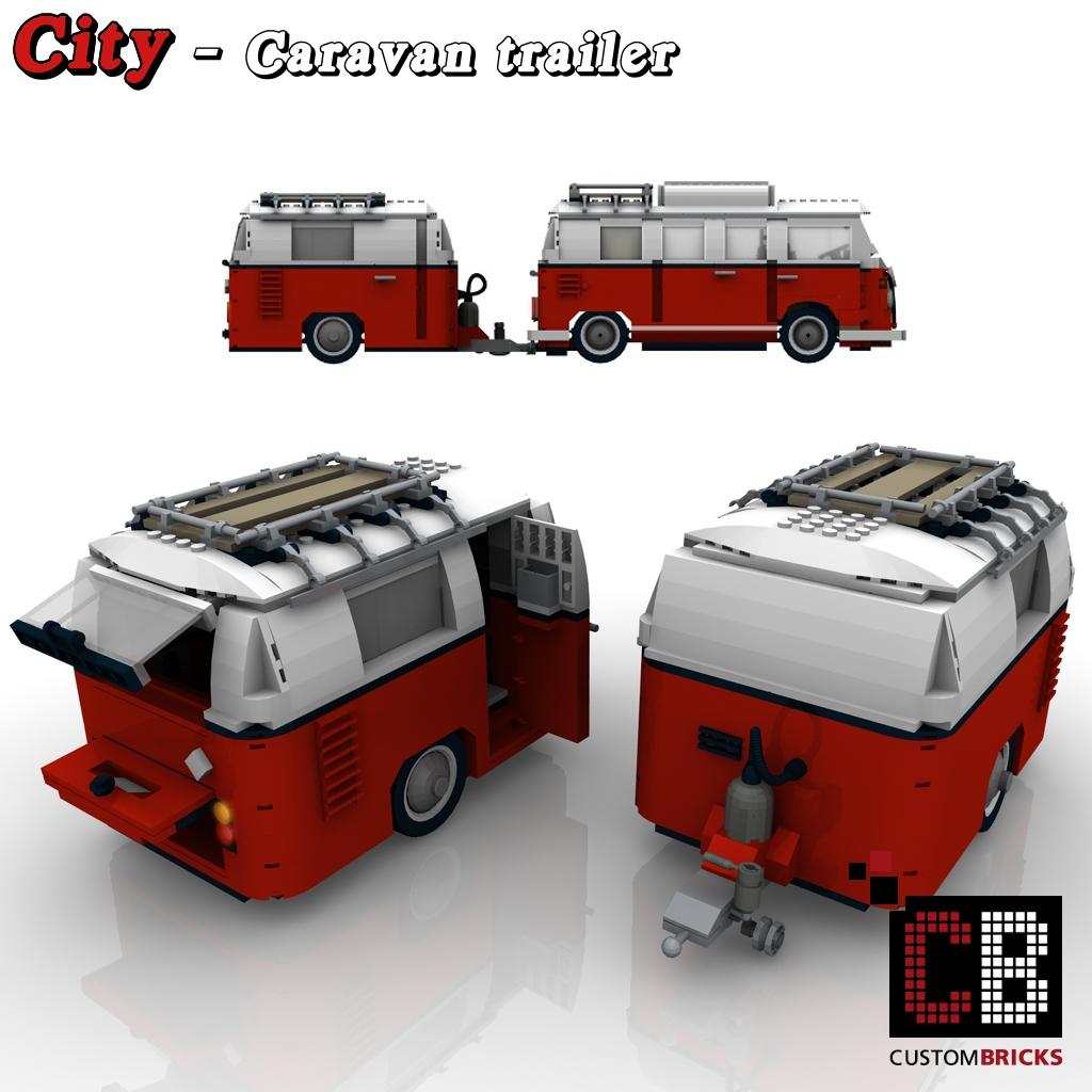 lego city anh nger wohnwagen caravan. Black Bedroom Furniture Sets. Home Design Ideas