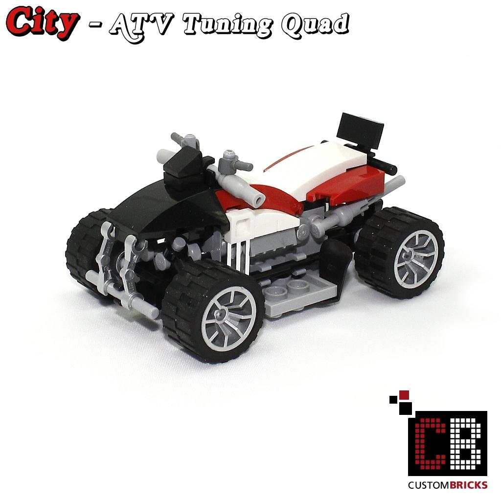 CUSTOMBRICKS de - CUSTOM Modell ATV Tuning Quad with trailer