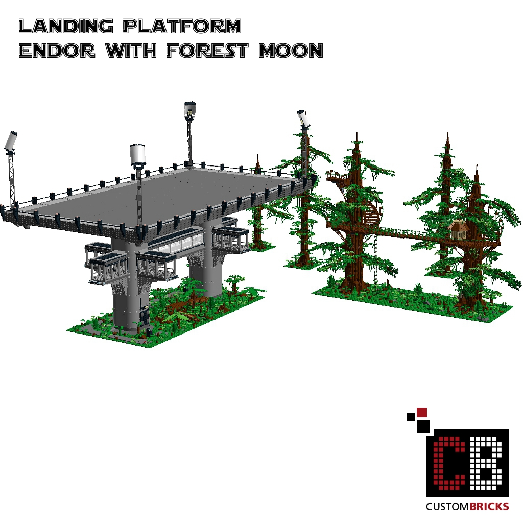 Custombricks Lego Custom Star Wars Custom Ucs Endor Landingplatform