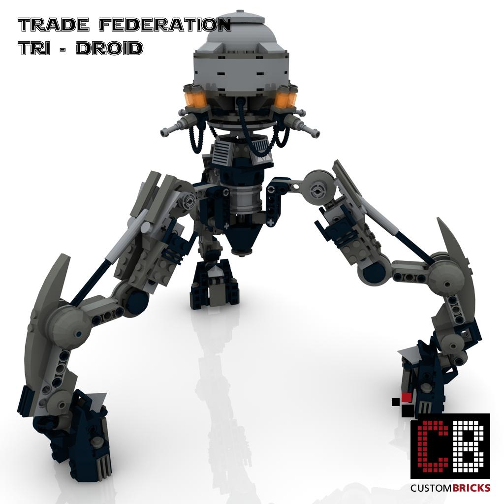 Custombricksde Lego Custom Star Wars Tri Droide