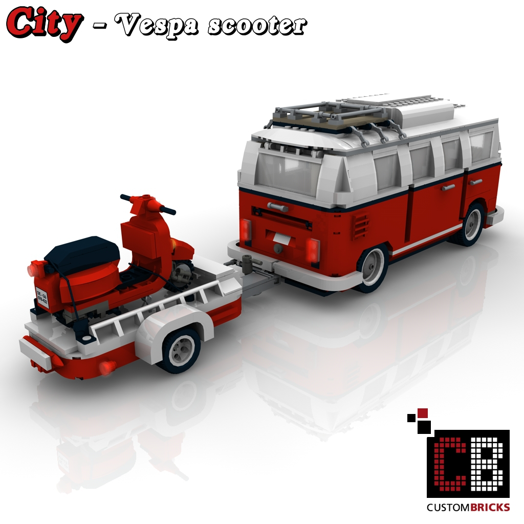 lego city vespa roller mit anh nger f r. Black Bedroom Furniture Sets. Home Design Ideas