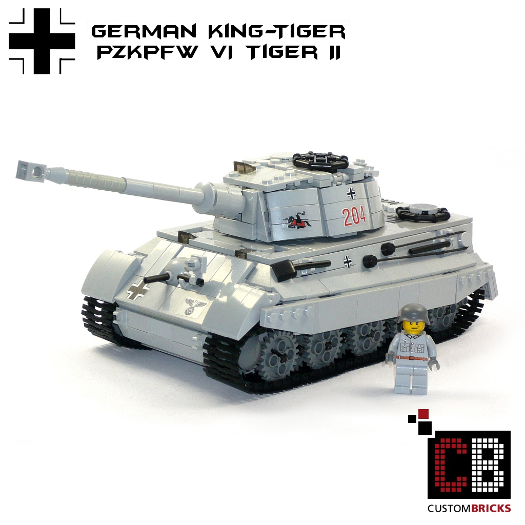 Custombricks De Custom Ww2 Tiger Ii Kingtiger Brickizimo Wwii