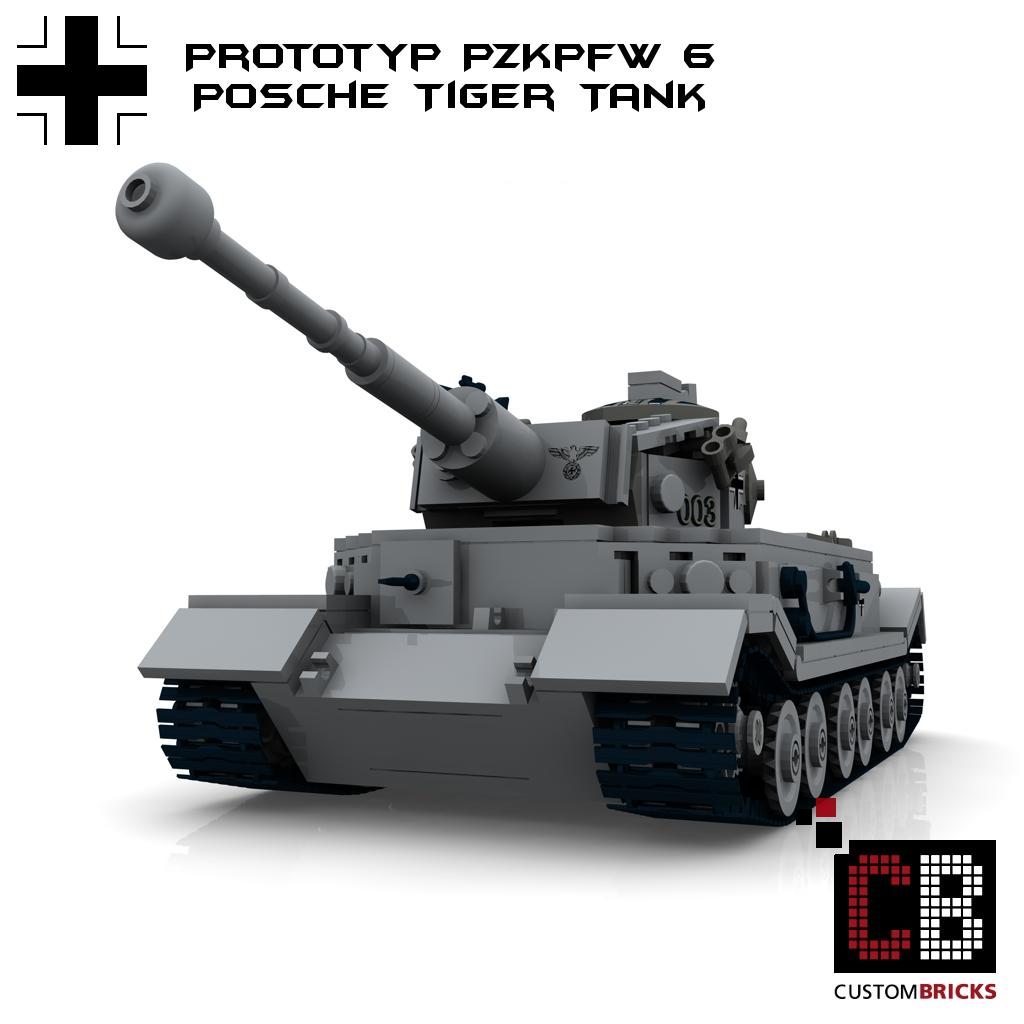 Custombricks De Custom Ww2 Tank Pzkpfw Vi Prototypes