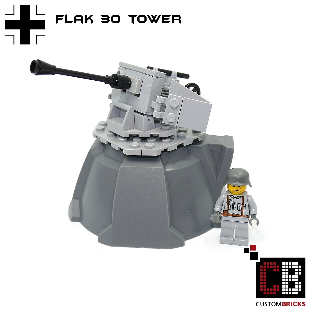 CUSTOMBRICKS de - LEGO WW2 WWII Wehrmacht Bunker Artillerie