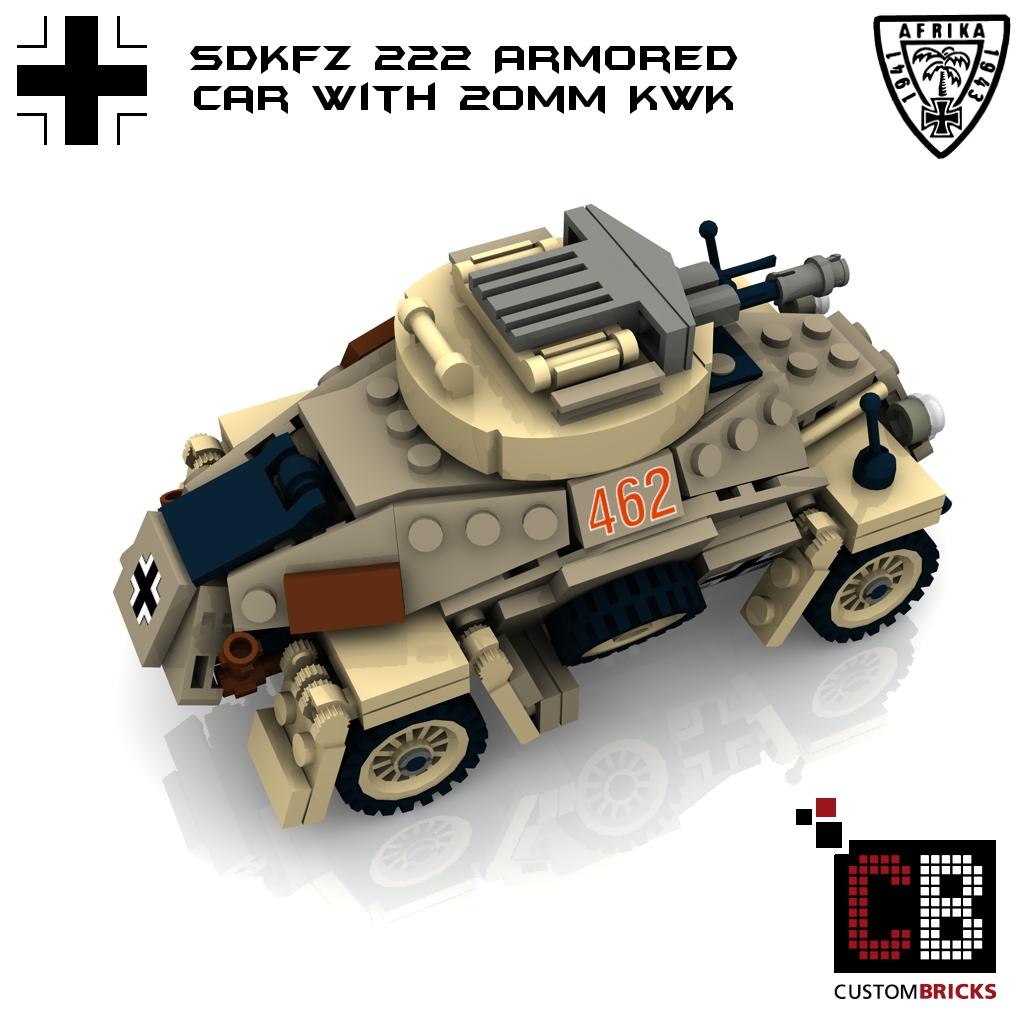 lego ww2 wwii wehrmacht sdkfz 222 20mm kwk la design custombricks custom pdf. Black Bedroom Furniture Sets. Home Design Ideas