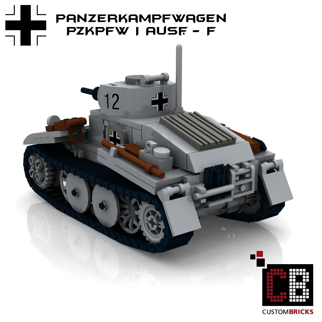 lego custom ww2 wwii panzer tank pzkpfw i panzerkampfwagen 1 ausf f. Black Bedroom Furniture Sets. Home Design Ideas
