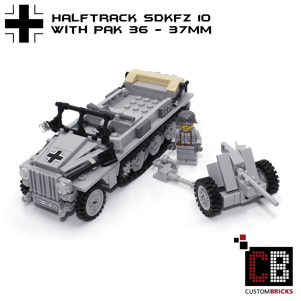 CUSTOMBRICKS de - LEGO Custom WW2 WWII Wehrmacht SD Kfz SdKfz 10 mit