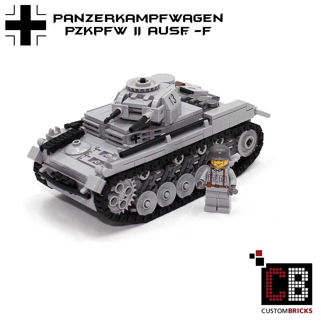Custombricks Lego Ww2 Wwii Panzer Tank Ii Ausf F