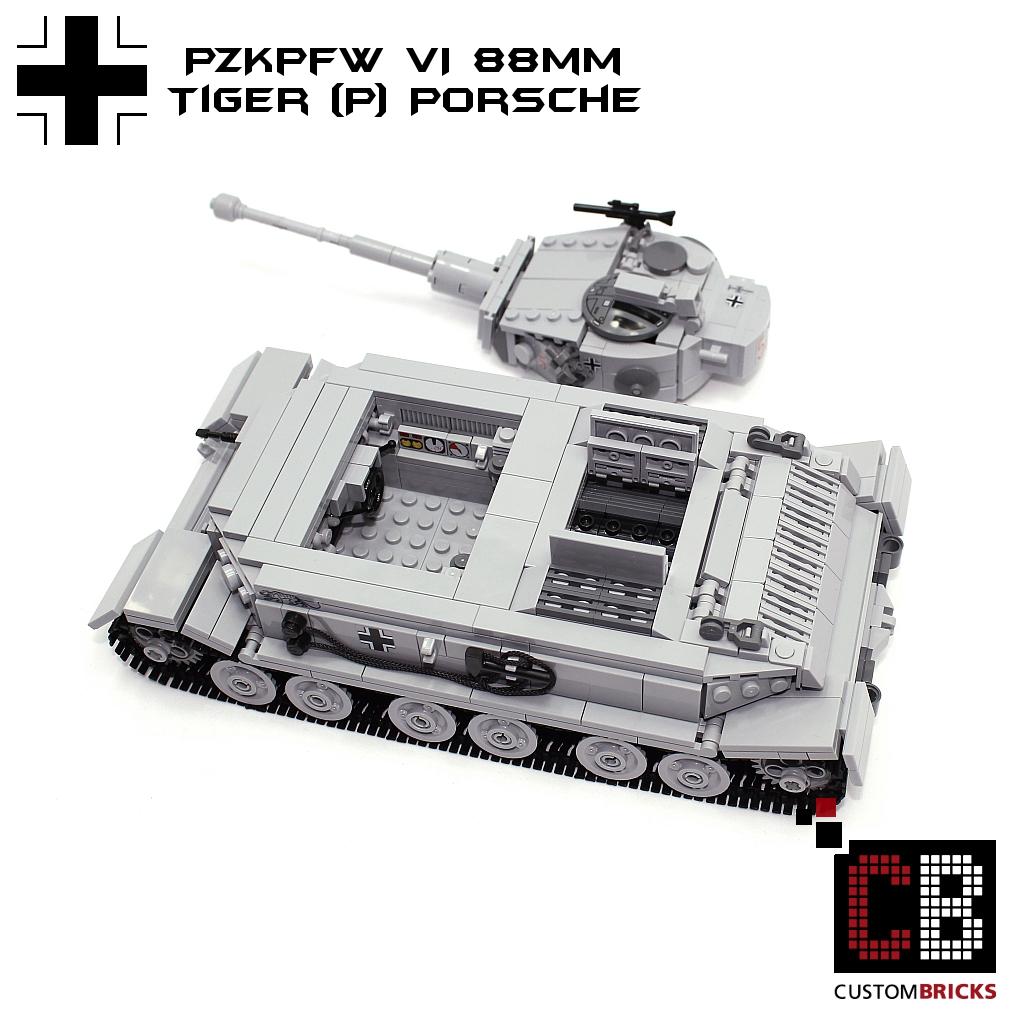 CUSTOMBRICKS de - LEGO WW2 WWII Wehrmacht SdKfz Panzer Tank